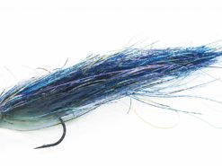 Fishmadman single hook pike fly silver and blue