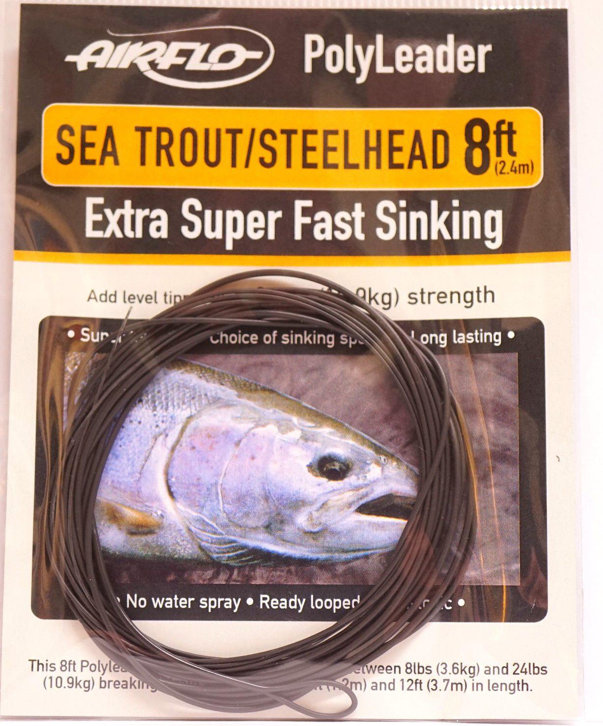 Steelhead 5 Extra Super Fast Sinking Airflo Polyleader Salmon