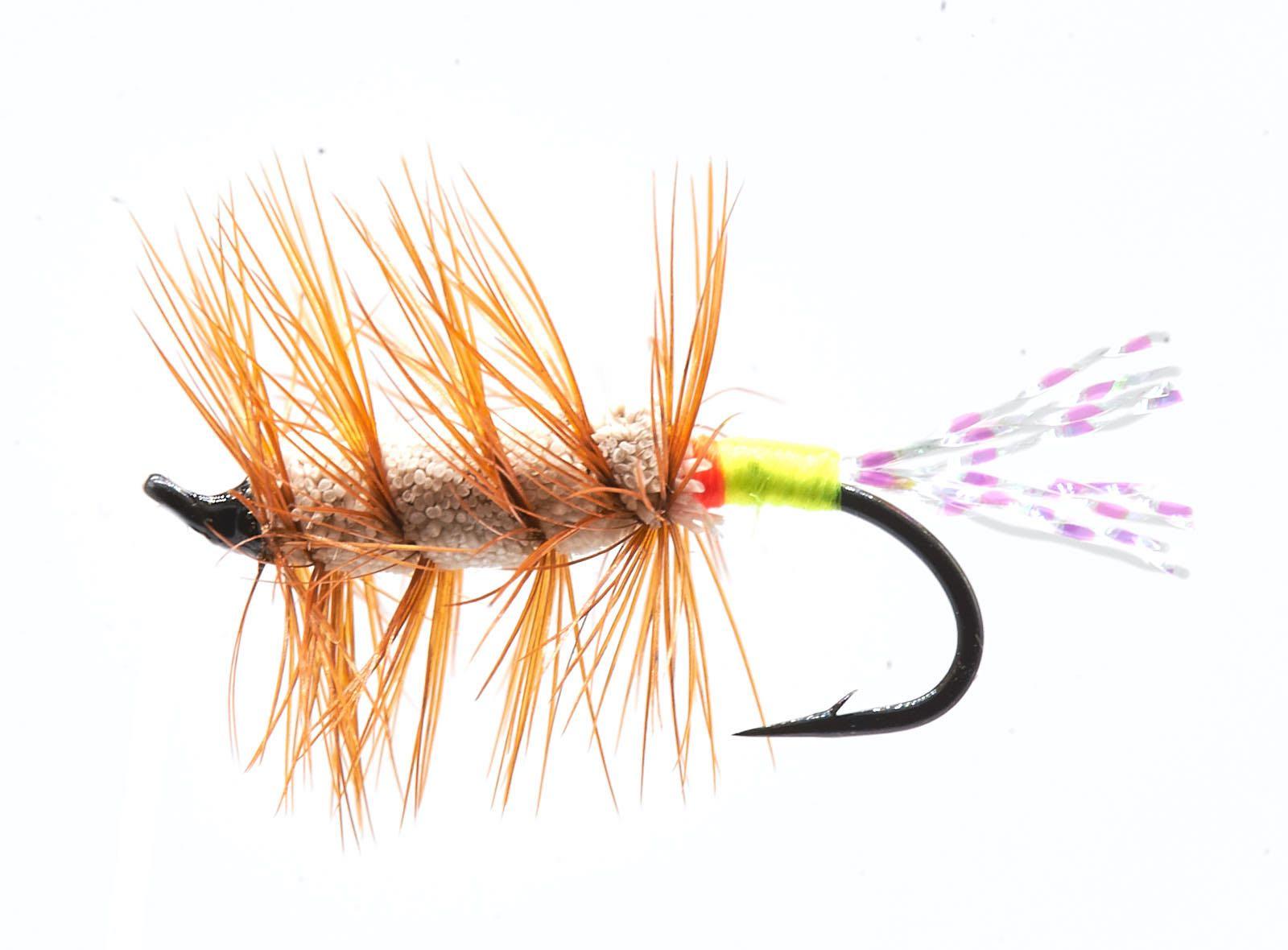 Buck Bug Green//White #10 Salmon Hook  skating Flies